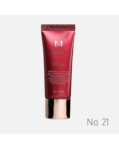MISSHA - M PERFECT COVER BB CREAM SPF 42 PA+++ No.21 /Light Beige - Svetlá béžová 20 ml