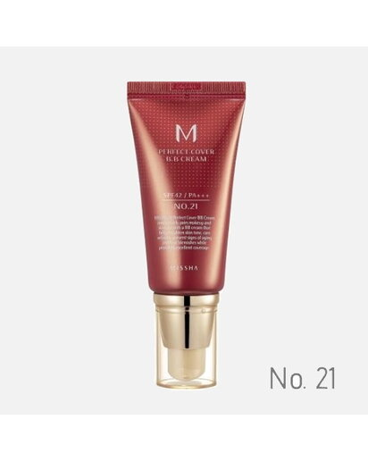 MISSHA - M PERFECT COVER BB CREAM SPF 42 PA+++ No.21 /Light Beige - Svetlá béžová 50 ml