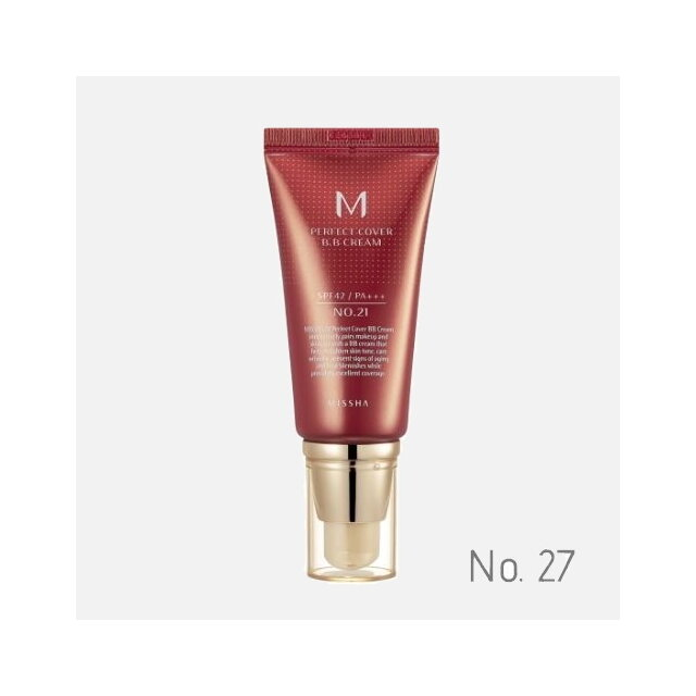 MISSHA - M PERFECT COVER BB CREAM SPF 42 PA+++ No.27 /Honey Beige - Medovo béžová 50 ml